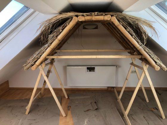 """Bambusdach05 560x420 - Projekt """"Freiraum"""" am Hochrhein: Ein Dach unterm Dach"""