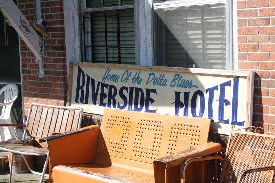 MSBluesTrail Clarksdale06 - Clarksdale, Mississippi: Das Riverside Hotel