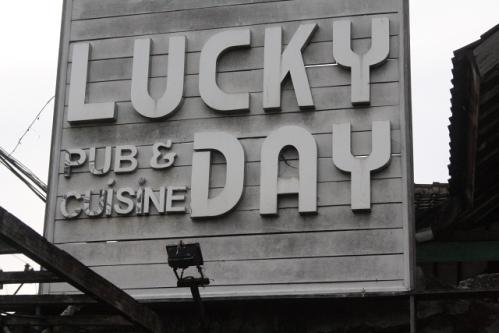 LuckyDay Sign - Bali Restaurant-Tip: Lucky Day, Seminyak