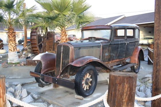 MotelRoute66 Wasserrad Oldtimer - Barstow, Kalifornien: sleep & eat on Historic Route 66