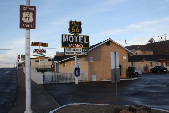 MotelRoute66 WelcomeSchild - Barstow, Kalifornien: sleep & eat on Historic Route 66