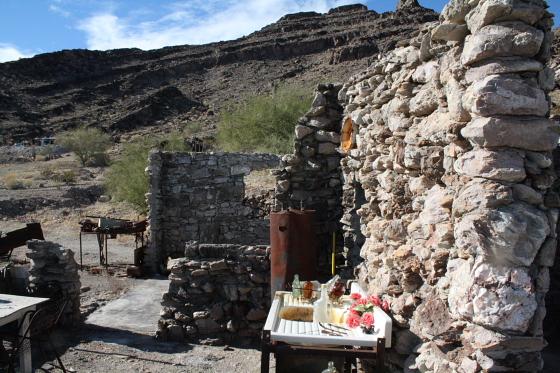"""Quartzsitetour03JAN10 - Quartzsite, Arizona: Blühende Kloschüsseln in der Wüste - """"Erdman's Place"""""""