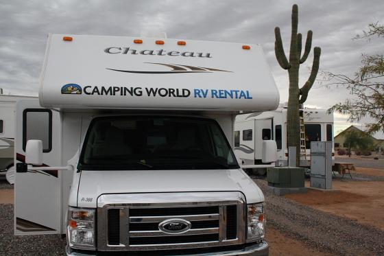 RV25FT - Start der Snowbird-WoMo-Tour: Campingworld (Moturis) Las Vegas und das lausige Wetter