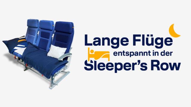 Lufthansa Sleepersrow e1627658112604 - Lufthansa: Sleeper's Row - flache Betten in der Economy Class nach São Paulo, Los Angeles und Singapur