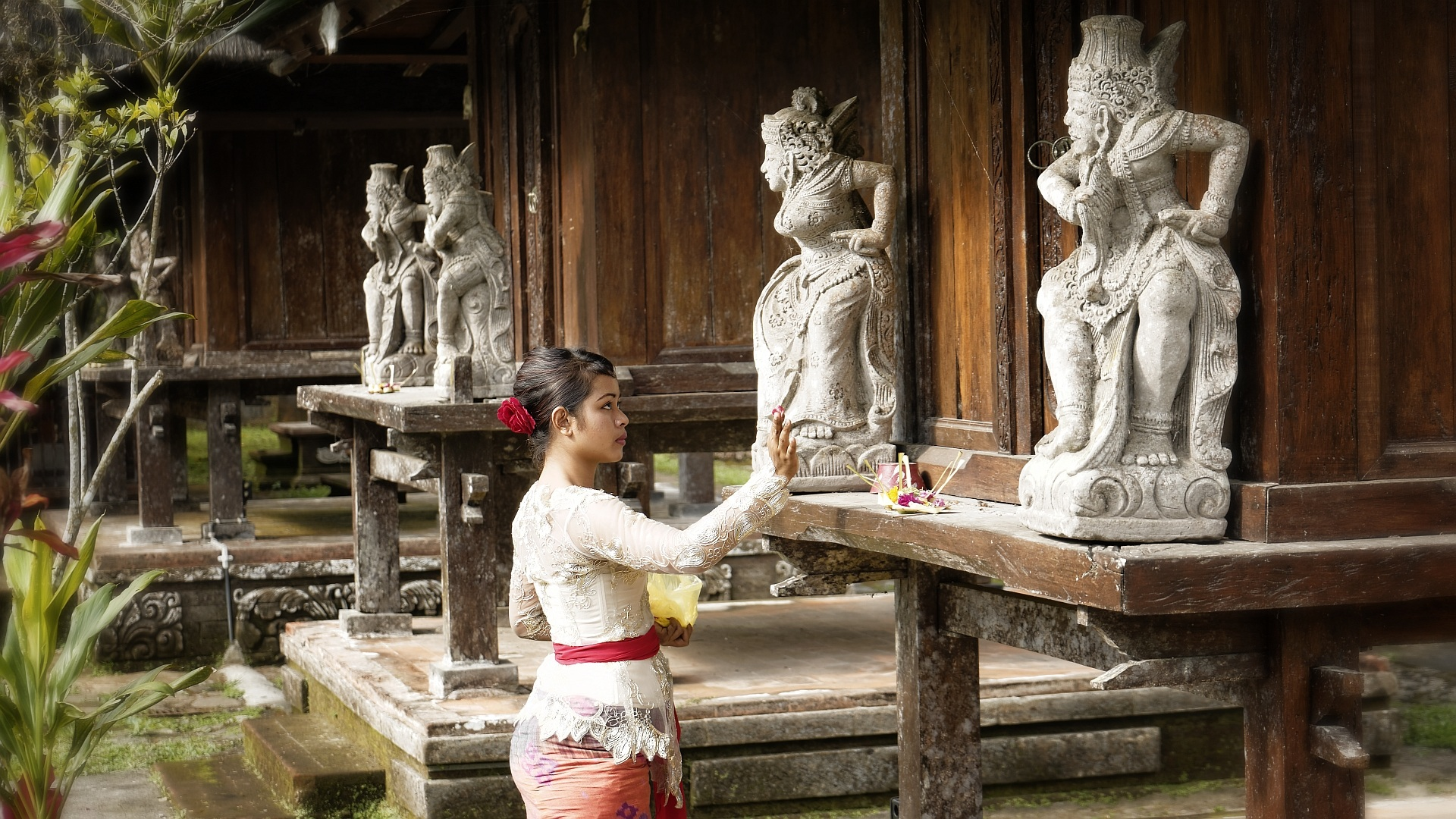 bali frau tempel - Tourismus auf Bali nach Corona: Backpacker nicht mehr willkommen