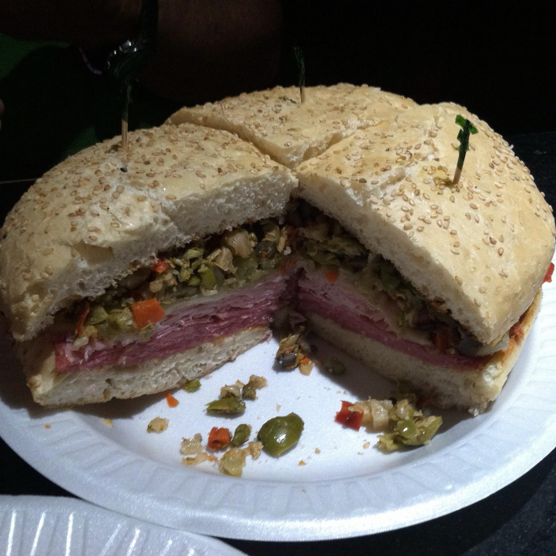 muffuletta sandwich - New Orleans, Louisiana: Central Grocery - Home of the Muffuletta