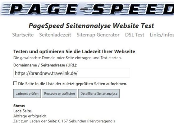 page speed.info  560x397 - traveLink: Danke @Alfahosting und Merry Christmas