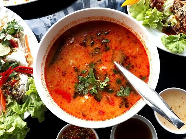 tom yum01 thai soup - Eat asiatisch in London: Die Bang Bang Oriental Foodhall im Londoner Stadtteil Colindale